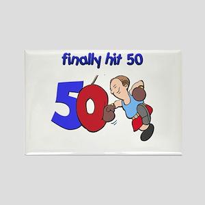 finally hit 50 Rectangle Magnet