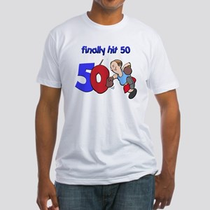 finally hit 50 Fitted T-Shirt