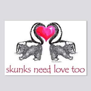 skunks need love too Postcards (Package of 8)