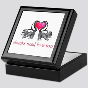 skunks need love too Keepsake Box