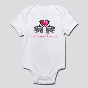 skunks need love too Infant Bodysuit