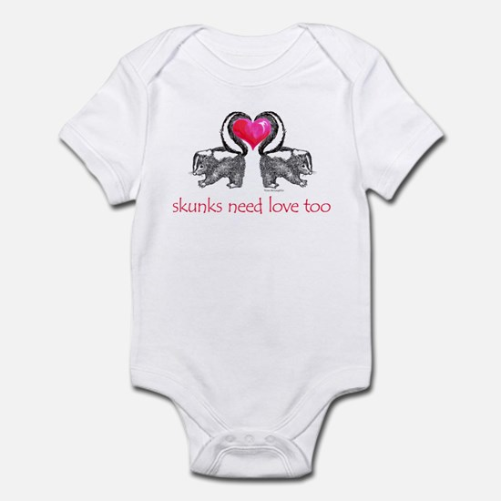 skunks need love too Infant Bodysuit