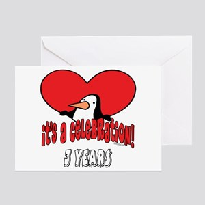 3rd Celebration Greeting Card