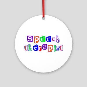 Speech Therapist Colors Ornament (Round)