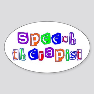 Speech Therapist Colors Oval Sticker