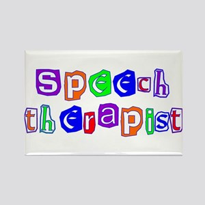 Speech Therapist Colors Rectangle Magnet