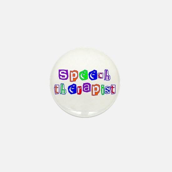 Speech Therapist Colors Mini Button