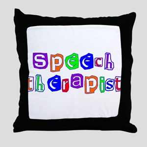 Speech Therapist Colors Throw Pillow