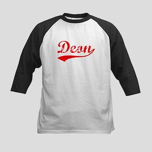 Vintage Deon (Red) Kids Baseball Jersey