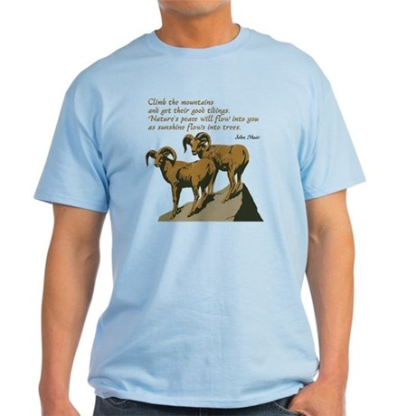 John Muir Quote Light T-Shirt