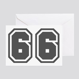Number 66 Greeting Card