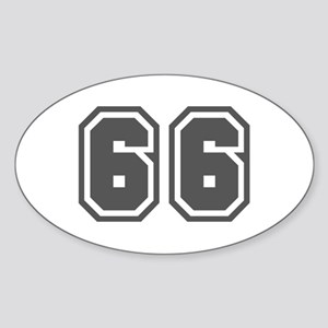 Number 66 Oval Sticker
