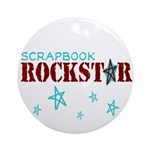 Scrapbook Rockstar Ornament (Round)