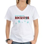 Scrapbook Rockstar Women's V-Neck T-Shirt