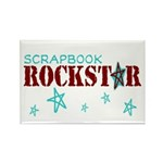 Scrapbook Rockstar Rectangle Magnet (10 pack)
