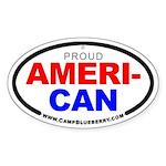 Proud American Oval Sticker