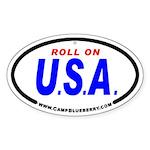 Roll On USA Oval Sticker