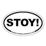 Stoy! Oval Sticker