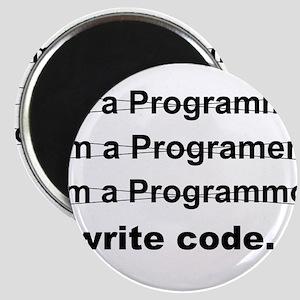 Revolution I Write Code Magnets