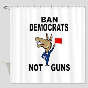 BAN DEMOCRATS Shower Curtain