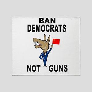 BAN DEMOCRATS Throw Blanket