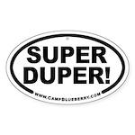 Super Duper! Oval Sticker