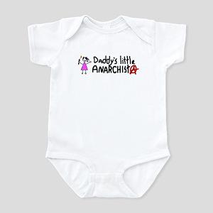 Daddy's Little Anarchist Girl Infant Bodysuit