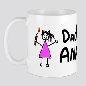 Daddy's Little Anarchist Girl Mug