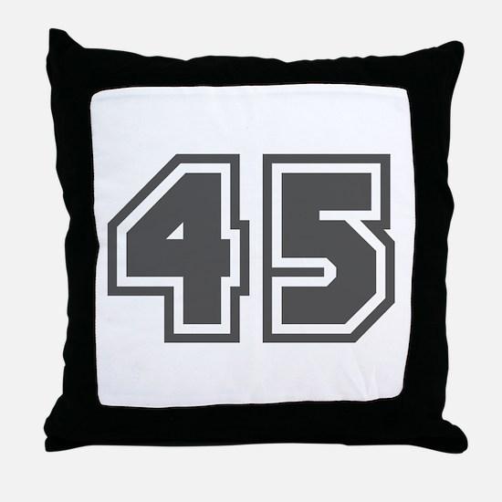 Number 45 Throw Pillow