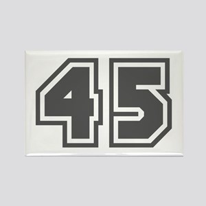Number 45 Rectangle Magnet