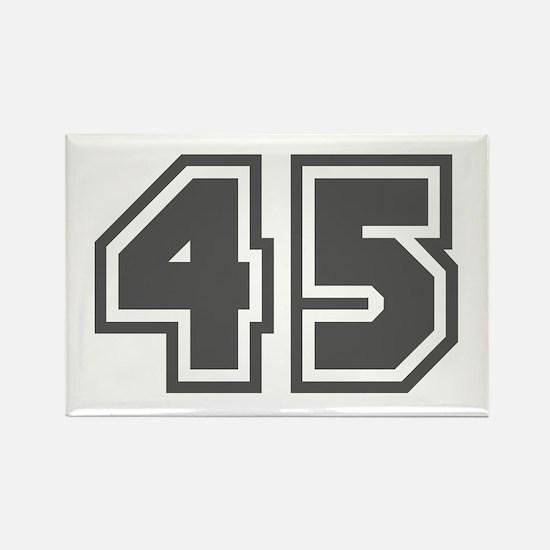 Number 45 Rectangle Magnet