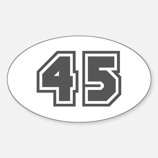 Number 45 Oval Decal