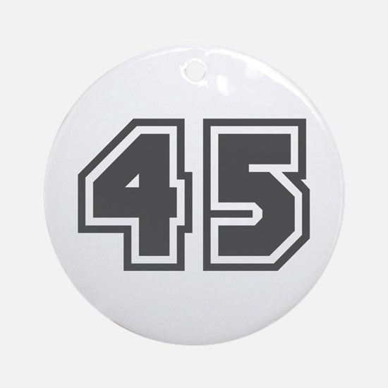Number 45 Ornament (Round)