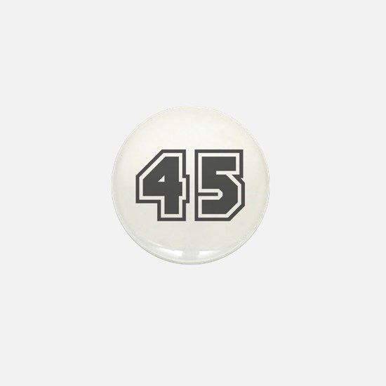 Number 45 Mini Button