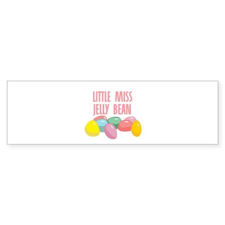 Little Miss Jelly Bean Bumper Sticker