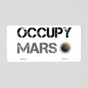 Occupy Mars Shirt Aluminum License Plate