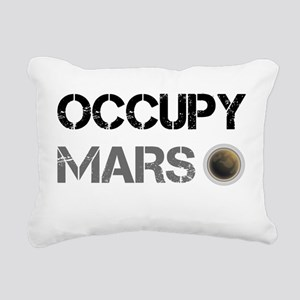 Occupy Mars Shirt Rectangular Canvas Pillow