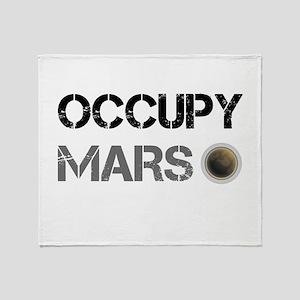 Occupy Mars Shirt Throw Blanket