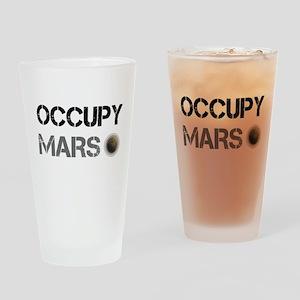Occupy Mars Shirt Drinking Glass