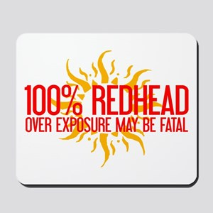 100% Redhead - Over Exposure Mousepad