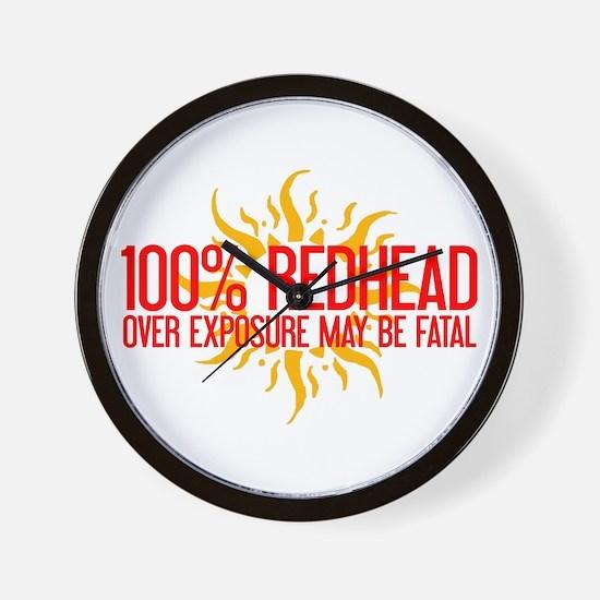 100% Redhead - Over Exposure Wall Clock