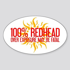 100% Redhead - Over Exposure Oval Sticker