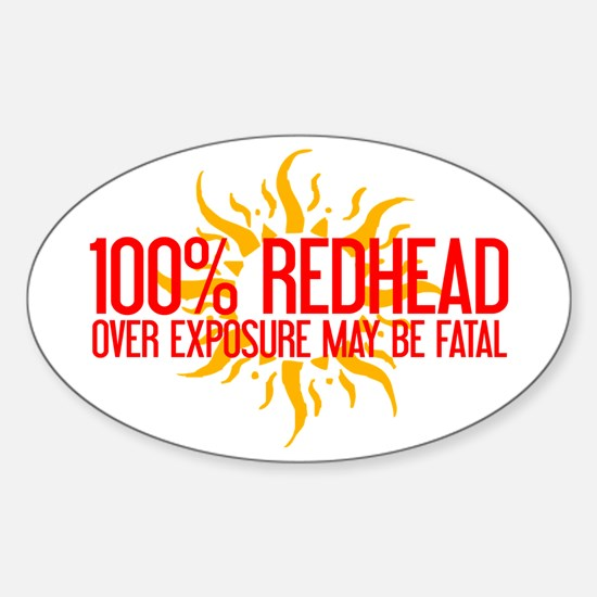 100% Redhead - Over Exposure Oval Decal