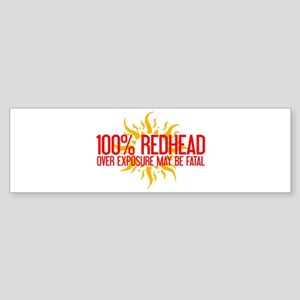 100% Redhead - Over Exposure Bumper Sticker