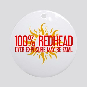 100% Redhead - Over Exposure Ornament (Round)