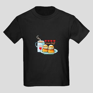 Coffee Cream Puff Kids Dark T-Shirt