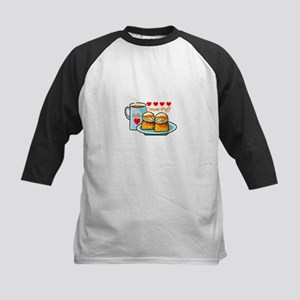 Coffee Cream Puff Kids Baseball Jersey