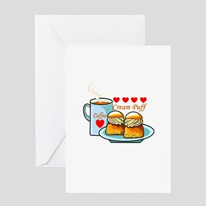 Coffee Cream Puff Greeting Card
