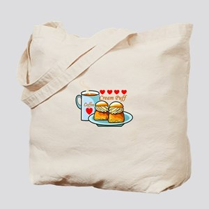 Coffee Cream Puff Tote Bag
