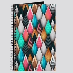 Abstract Triangles Geometric Pattern Backg Journal
